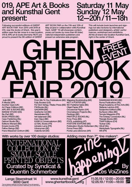 Ghent Art Book Fair 2019 - Kunsthal Ghent